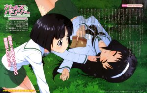 Rating: Safe Score: 29 Tags: girls_und_panzer reizei_mako seifuku sono_midoriko yoshida_nobuyoshi User: drop