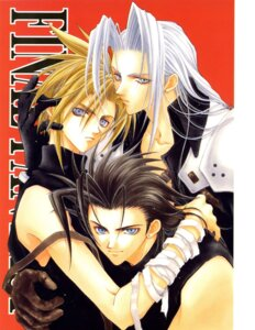 Rating: Safe Score: 3 Tags: adumi_tohru cloud_strife final_fantasy final_fantasy_vii male screening sephiroth zack_fair User: Riven