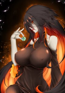 Rating: Safe Score: 46 Tags: anthropomorphization black_hole-chan cigar_cat dress erect_nipples User: BattlequeenYume