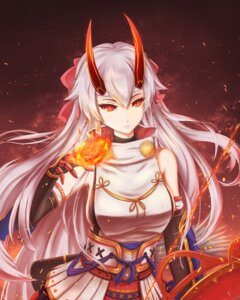 Rating: Safe Score: 20 Tags: fate/grand_order horns japanese_clothes skyde_kei tomoe_gozen_(fate/grand_order) User: Nepcoheart