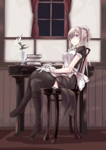 Rating: Safe Score: 79 Tags: maid megane pointy_ears stockings thighhighs touma_raito User: KazukiNanako