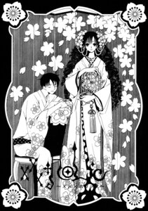 Rating: Safe Score: 6 Tags: clamp kimono kunogi_himawari monochrome watanuki_kimihiro xxxholic User: charunetra