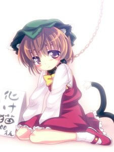Rating: Questionable Score: 17 Tags: animal_ears bondage chen nanamiso nekomimi tail touhou User: Mr_GT