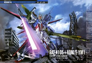 Rating: Safe Score: 22 Tags: gun gundam gundam_seed hiraoka_masaki landscape mecha perfect_strike_gundam strike_gundam sword User: drop