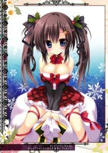 Rating: Questionable Score: 83 Tags: ame_zaiku christmas cleavage dress shiramori_yuse User: Hatsukoi