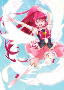 Rating: Safe Score: 12 Tags: aino_megumi happiness_charge_precure! pretty_cure thighhighs wings yupiteru User: cosmic+T5