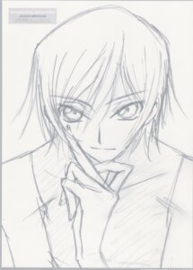 Rating: Safe Score: 4 Tags: code_geass lelouch_lamperouge male monochrome ochiai_hitomi sketch User: hirotn