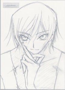 Rating: Safe Score: 4 Tags: code_geass lelouch_lamperouge male monochrome ochiai_hitomi sketch User: hirotn