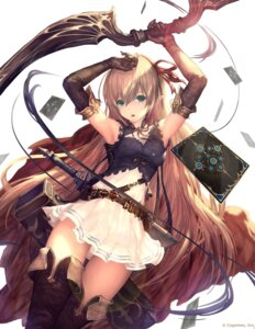 Rating: Safe Score: 65 Tags: arisa_(shadowverse) dress pantsu shadowverse tachikawa_mushimaro thighhighs weapon User: Mr_GT