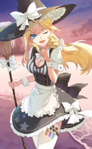 Rating: Safe Score: 31 Tags: baisi_shaonian cleavage kirisame_marisa thighhighs touhou witch User: Mr_GT