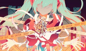 Rating: Safe Score: 38 Tags: bandages hatsune_miku ovos vocaloid weapon User: Mr_GT