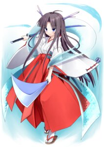 Rating: Safe Score: 18 Tags: miko suika_(artist) sword User: fairyren