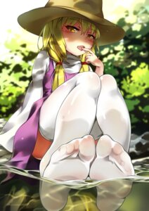 Rating: Questionable Score: 65 Tags: chen_bin feet moriya_suwako thighhighs touhou wet User: Mr_GT