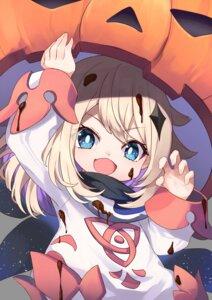 Rating: Safe Score: 16 Tags: cream dress genshin_impact halloween kurou_sagi paimon_(genshin_impact) User: ryoga828