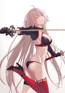 Rating: Questionable Score: 28 Tags: ass bikini cleavage fate/grand_order garter heels jeanne_d'arc jeanne_d'arc_(alter)_(fate) swimsuits sword tagme thighhighs User: Genex