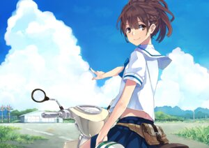 Rating: Safe Score: 25 Tags: hao_(patinnko) robotics;notes seifuku senomiya_akiho User: animeprincess