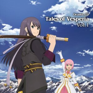 Rating: Safe Score: 8 Tags: disc_cover estellise_sidos_heurassein sword tales_of tales_of_vesperia yuri_lowell User: blooregardo