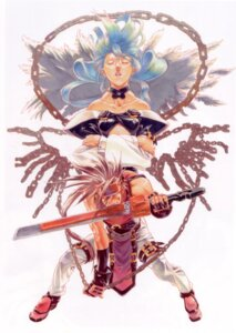 Rating: Safe Score: 7 Tags: dizzy guilty_gear ishiwatari_daisuke sol_badguy sword wings User: Radioactive
