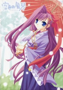 Rating: Safe Score: 4 Tags: kimono millet minase_lin sorairo_no_organ umbrella User: Davison