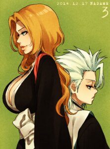 Rating: Safe Score: 8 Tags: bleach cleavage hitsugaya_toushirou matsumoto_rangiku nadame User: charunetra