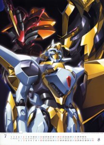 Rating: Safe Score: 9 Tags: calendar code_geass mecha nakada_eiji User: admin2