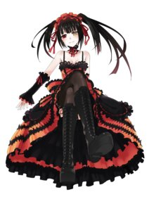 Rating: Safe Score: 80 Tags: date_a_live feet gothic_lolita heterochromia lolita_fashion stockings thighhighs tokisaki_kurumi yukiyo_(otca202) User: Radioactive