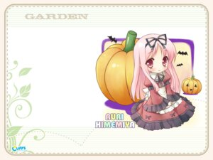 Rating: Safe Score: 7 Tags: chibi cuffs garden halloween himemiya_ruri kanekiyo_miwa lolita_fashion wallpaper User: fireattack