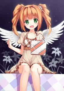 Rating: Safe Score: 60 Tags: dress takatsuki_yayoi the_idolm@ster wings yuri_shoutu User: tbchyu001