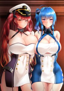 Rating: Safe Score: 55 Tags: azur_lane cleavage dress honolulu_(azur_lane) st._louis_(azur_lane) takanotsume User: Mr_GT