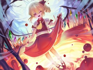 Rating: Safe Score: 15 Tags: flandre_scarlet pointy_ears skirt_lift ssangbong-llama touhou wings User: Dreista