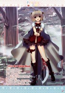 Rating: Questionable Score: 28 Tags: blood dress egoistic_honey garter hazumi_rio little_red_riding_hood_(character) weapon User: admin2