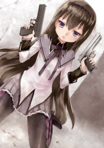 Rating: Safe Score: 20 Tags: akemi_homura gun heels pantyhose puella_magi_madoka_magica rin2008 User: Mr_GT