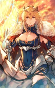 Rating: Safe Score: 28 Tags: artoria_pendragon_(lancer) cleavage fate/grand_order makimura_shunsuke thighhighs weapon User: Mr_GT