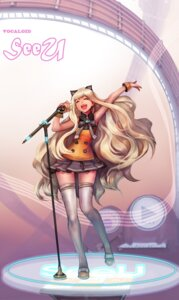 Rating: Safe Score: 18 Tags: animal_ears gd_choco nekomimi seeu thighhighs vocaloid User: charunetra