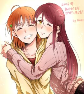 Rating: Safe Score: 12 Tags: love_live!_sunshine!! sakurauchi_riko sweater tagme takami_chika User: Radioactive
