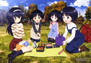 Rating: Safe Score: 35 Tags: girls_und_panzer gotou_moyoko konparu_nozomi overalls reizei_mako sono_midoriko sweater thighhighs wang_guo_nian User: drop