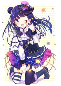 Rating: Safe Score: 81 Tags: gothic_lolita lolita_fashion love_live!_sunshine!! mafuyu_(chibi21) stockings thighhighs tsushima_yoshiko wings User: Mr_GT