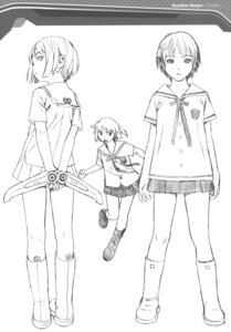 Rating: Safe Score: 9 Tags: character_design houjou_kuniko monochrome range_murata seifuku shangri-la sketch User: Share