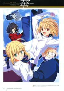 Rating: Safe Score: 9 Tags: arcueid_brunestud fate/stay_night kara_no_kyoukai ryougi_shiki saber tsukihime type-moon User: fireattack