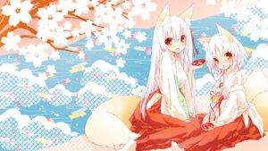 Rating: Safe Score: 32 Tags: animal_ears miko saeki_thoma tail wallpaper User: fairyren