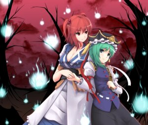 Rating: Safe Score: 13 Tags: cleavage gayprince onozuka_komachi shikieiki_yamaxanadu touhou User: Radioactive