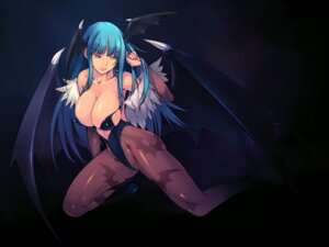 Rating: Questionable Score: 97 Tags: amei_sumeru cleavage dark_stalkers erect_nipples leotard morrigan_aensland pantyhose wallpaper wings User: solechris