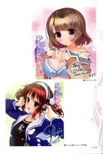 Rating: Questionable Score: 28 Tags: autographed bra cleavage hayakawa_harui headphones lass moriyama_shijimi shoujo_shiniki_shoujo_tengoku tsukamine_miori tsunasaka_aoi User: Twinsenzw