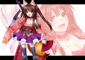 Rating: Safe Score: 21 Tags: animal_ears cleavage konshin tail thighhighs User: KerrigN