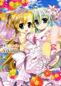 Rating: Questionable Score: 28 Tags: dress einhart_stratos fujima_takuya heterochromia mahou_shoujo_lyrical_nanoha mahou_shoujo_lyrical_nanoha_vivid thighhighs vivio wedding_dress User: Velociraptor