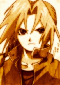 Rating: Safe Score: 3 Tags: edward_elric fullmetal_alchemist godees male monochrome User: charunetra