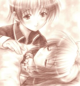 Rating: Safe Score: 3 Tags: clannad goto-p ibuki_fuuko ibuki_kouko monochrome User: timedebris