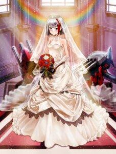 Rating: Safe Score: 18 Tags: admiral_graf_spee_(azur_lane) azur_lane dress neko61 wedding_dress User: Mr_GT