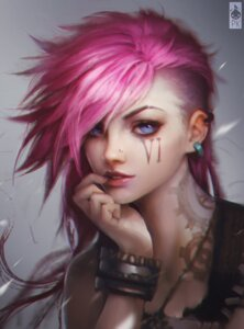 Rating: Safe Score: 63 Tags: league_of_legends paul_kwon tattoo vi_(league_of_legends) User: blooregardo