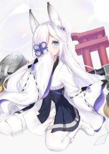 Rating: Safe Score: 35 Tags: animal_ears azur_lane eyepatch japanese_clothes kasumi_(azur_lane) kimidori3_karla thighhighs User: Nepcoheart